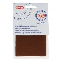 Opry Reparatiedoek stevig opstrijkbaar 12x40cm 0881 bruin