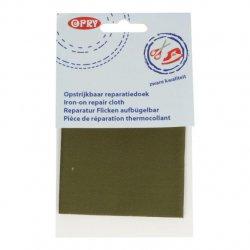 Opry Reparatiedoek stevig opstrijkbaar 12x40cm 5790 groen