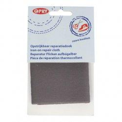 Opry Reparatiedoek stevig opstrijkbaar 12x40cm 9685 grijs