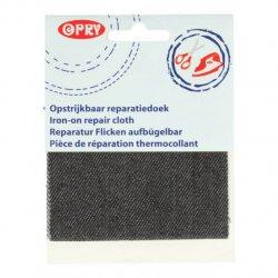 Opry Reparatiedoek jeans opstrijkbaar 10x40cm color 001 grijs