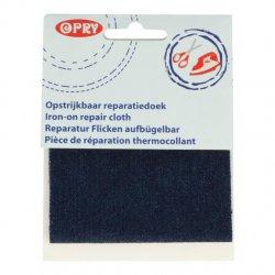 Opry Reparatiedoek jeans opstrijkbaar 10x40cm color 002 grijs