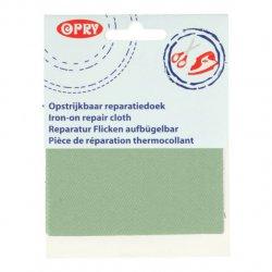 Opry Reparatiedoek jeans opstrijkbaar 10x40cm color 547 groen