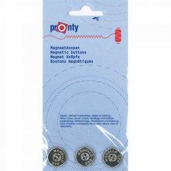 Pronty Magneetknopen  Zilver