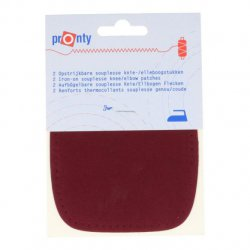 Pronty Kniestukken opstrijkbaar 1 paar -  015 rood