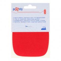 Pronty Kniestukken opstrijkbaar 1 paar - 018  rood