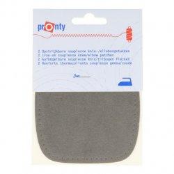 Pronty Kniestukken opstrijkbaar 1 paar - 033 grijs