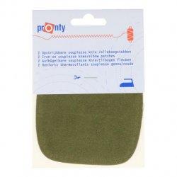 Pronty Kniestukken opstrijkbaar 1 paar -  041 groen
