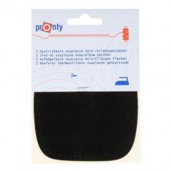 Pronty Kniestukken opstrijkbaar 1 paar -  090 zwart