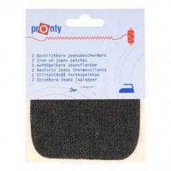 Pronty Kniestukken Jeans opstrijkbaar 2st 090 zwart