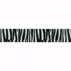 Elastic band zebra print 40mm per cm/mtr te bestellen