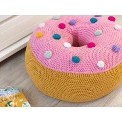 Gratis geprint Patroon Donut Zitkussen