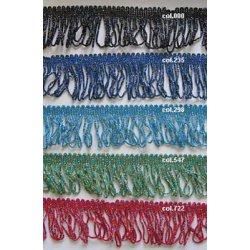 Franjeband div kleuren per cm of mtr te bestellen