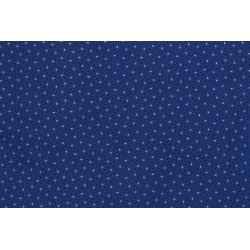 Poplin Katoen Speckles 12112 blauw 005