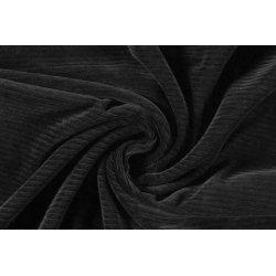 Corduroy Brede rib uni stretch 12502 zwart 069