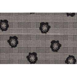 Tricot blok met bloemen 12186 zwart 069