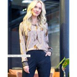 Stof voor model blouse M1981 uit My Image spec ed herfst winter 2019 12424 beige 052