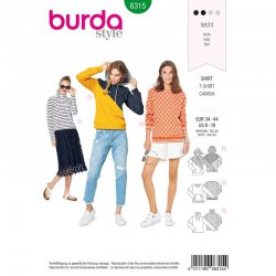 Burda 6315 Shirts van jogging, Punti of French Terry