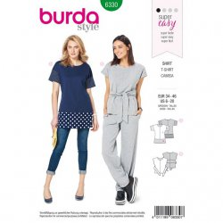 Burda 6330 Shirts van Tricot Jersey Chill mode Super Easy