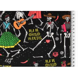 Poplin geklede skeletten met muziek 132024 0003