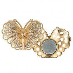Magnetische broche vlinder 45mm goud 64264-GO