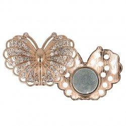 Magnetische broche vlinder 45mm goud 64264-RGO