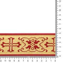 Sinterklaasband 50mm Rood, Goud