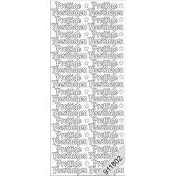 "NL 0268 - Transparant ""Prettige feestdagen"""