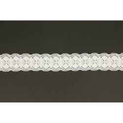 Nylon stretch kant 40mm Wit 009