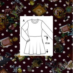 Stof voor jurkje van Tricot met Parfum 12167 rood 019