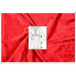 Stof voor Jurkje Burda Patroon 6473 Velours de Panne 100060 rood 5019