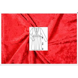 Pakket jurkje van Velours de Panne 100060 rood 5019