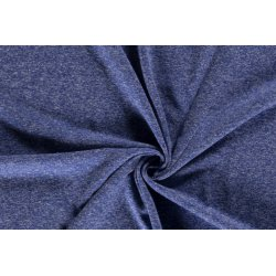 Jersey Gemeleerd 50%CO / 50%PL 13429 blauw 005
