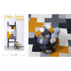 Criss-Cross Blanket - Grey/Yellow - 014.207