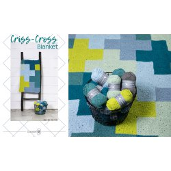 Criss-Cross Blanket - Blue/Grey - 014.209