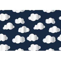 Tricot met glimmende wolken 13043 blauw 008
