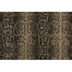 Ottoman bedrukt met slangenhuid 01272 zwart 069
