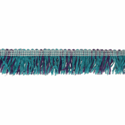 Band met franjes 25mm blauw-paars  79774