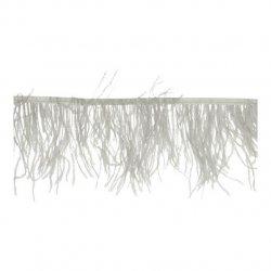 Band met struisvogel veren 12-15cm Grijs  79387