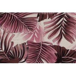 Viscose Linnen Stretch 210GSM Bloemen 13337 roze 012