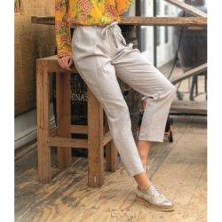 Stof voor broek model M2004 uit My Image voorjaar zomer 2020 art 02155 beige 152