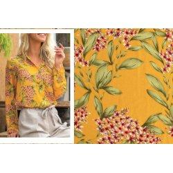 Stof voor blouse model M2003 uit My Image voorjaar zomer 2020 art 13209 geel 035