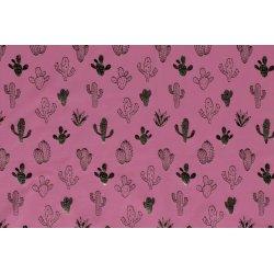Tricot met glimmende cactus 13048 roze 014