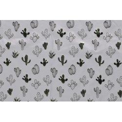 Tricot met glimmende cactus 13048 grijs 061