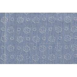 Denim jeans spijkerstof bloemen 13038 blauw 002