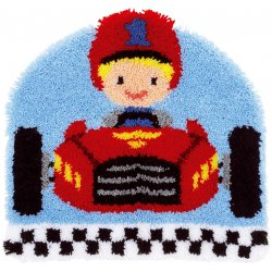 Knoopvormtapijt kit Raceauto  PN-0157554