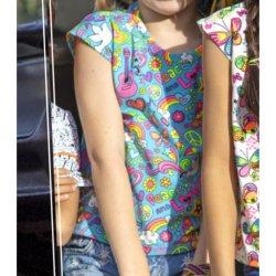 Stof voor shirt model H1001 uit Miss Doodle voorjaar zomer 2020 art 13633 groen 024