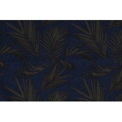 Viscose Linnen bladeren 13479 blauw 006