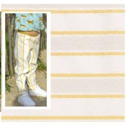 Bengaline Linnen Viscose Streep 13177 geel 035