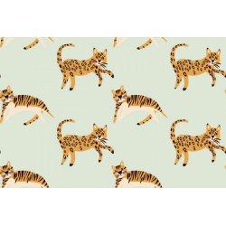 Dapper Katoen Jungle Kat 13081 groen 021