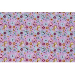 Dapper Katoen Paisley 13086 roze 012